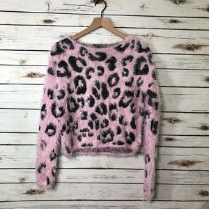 Wild Fable Pink Leopard sweater 🐆